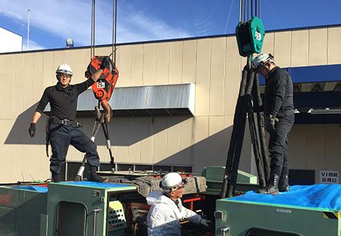 吊りワイヤー、吊りスリングは安全作業を成し遂げる上でとても重要なものです。